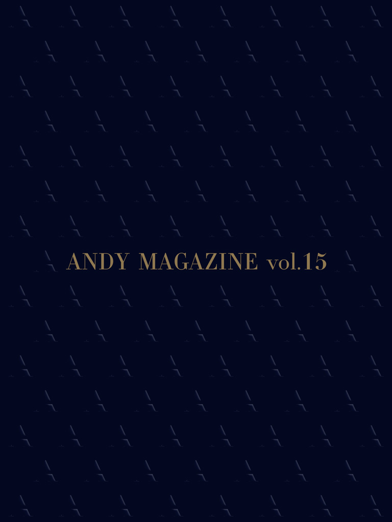 ANDY MAGAZINE vol.15